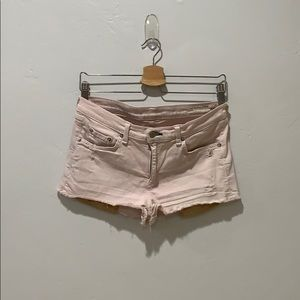 rag & bone Cut off shorts in light pink Sz 28